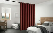 Blackout Room Divider Curtain Panel Privacy Screen Thermal Insulated Burgundy