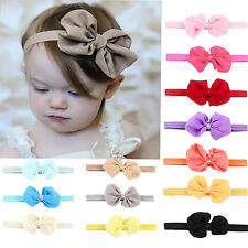 14Pcs Newborn Baby Kids Girl Infant Bowknot Headband Hairband Headwear Lot 1-12T
