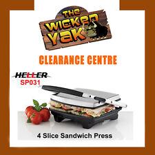 Heller 4 Slice 2000 Watt Non Stick Sandwich Press Toaster Grill SP031-NEW