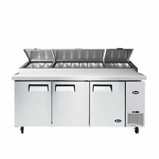 New 3 Door 93 Refrigerated Pizza Prep Table Cooler Nsf Atosa Mpf8203gr 1150