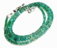 BEAUTIFUL NATURAL FACETED EMERALD BEADS NECKLACES