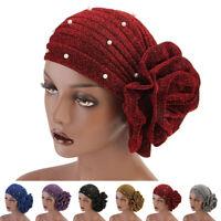 Muslim Women Flower Hijab Elastic Cap Arab Islamic Headscarf Headwear Turban Hat