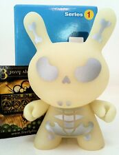 "DUNNY 3"" SERIES 1 JERRY ABSTRACT GID GLOW IN DARK w/ BOX/CARD 1/24 KIDROBOT 2004"