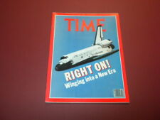 TIME MAGAZINE April 27,1981 RIGHT ON! COLUMBIA SPACE high grade NO LABEL