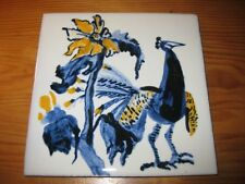 PORTUGAL PORTUGUESE PAULA REGO 1990s EDIT PEACOCK CERAMIC TILE CARREAU FLIESE