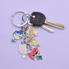 Anime JoJo's Bizarre Adventure Characters Keychain Multi Badge Figures Key Ring