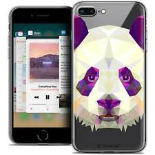 "Coque Housse Etui Pour iPhone 8 Plus (5.5"") Polygon Animal Souple Fin Panda"