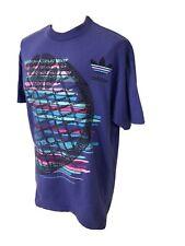 Vintage 90s Adidas Single Stitch Tennis Purple T Shirt Men's XL Graphic Tee USA