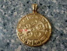 Feng Shui = Element Balancing Medallion Pendant (Gold Stainless Steel)