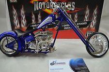 1:9 scale CUSTOM CHOPPER MOTORCYCLE Diecast model bike in Blue