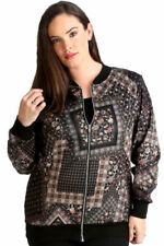Polyester Machine Washable Geometric Coats, Jackets & Vests for Women