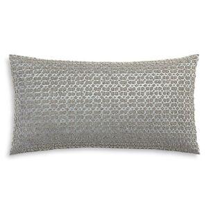 Hudson Park Embroidered Tile Decorative Pillow, 12 x 22 Blue