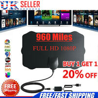 UK Portable TV Antenna Indoor Outdoor Digital HD Freeview Aerial Ariel 20% OFF