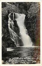 RPPC Postcard Brownstone Falls at Copper Falls State Park Mellen WI
