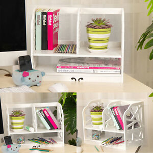 White Home Office Wooden Desk Tidy Stationery Pen Holder Organiser Exquisite