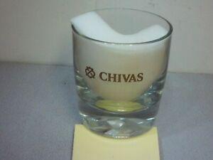 BEAUTIFUL CHIVAS REGAL SCOTCH LOWBALL GLASS~GOLD LETTERING~WHISKY~BAR