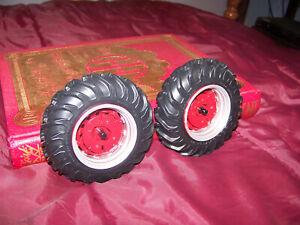 Parts, Prestige International 806 rear wheels, 1/16, Ertl,NICE, 18.4-34, custom