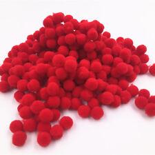 Hot 100-2000 pcs 8mm DIY Crafts Red Mini Fluffy Pom poms Ball Felt