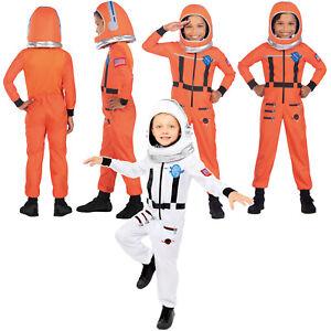 Child Astronaut Fancy Dress Spaceman Costume Spacesuit Book Week Kids Boys Girls