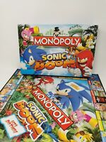 Sonic Boom Monopoly Board Game Hasbro - No dice and 2 missing figures