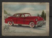 Dodge Convertible 1950 Vintage 1950s Dutch Trading Card No. 100