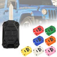Car Key Fob Shell Case Cover For Jeep Wrangler JK 2007-2017 New Multi