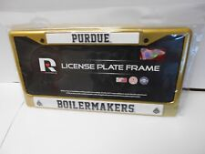 Purdue Boilermakers Gold Colored Chrome License Plate Frame.    #114