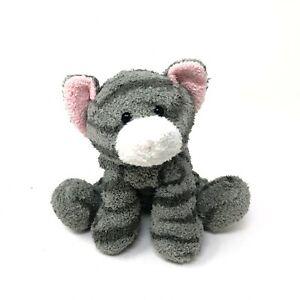 "Russ Tabbies Luv Pets Tabby Kitty Cat 5"" Plush Gray Striped Beanie Kitten"