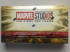 2019 Upper Deck MARVEL STUDIOS THE FIRST TEN(10) YEARS sealed hobby box