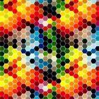 0.5 2m hydrographic film water transfer printing Rainbow hexagonal GAMERS choice
