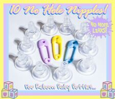 10 Standard Size Universal No Hole Nipples For Reborn Baby Fake Bottles!