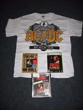 AC/DC LIVE XBOX 360, NO BULL DVD, & BLACK ICE T-SHIRT NEW IN THE BOX FAN PACK