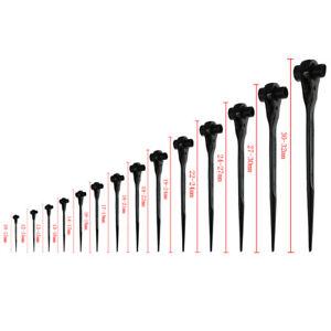 Podger Ratchet Bar Scaffold Spanner 10 - 32mm Ratcheting Socket Wrench Black