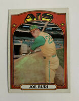 1972 Topps Joe Rudi # 209 Baseball Card Oakland Athletics A's