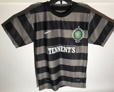 RARE NIKE CELTIC FC SOCCER JERSEY 125th YEAR CENTENARY SIZE ADULT S BLACK STRIPE