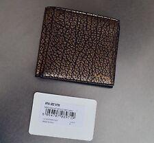 NWT Paul Smith Men's Golden Grey Metallic Pebbled Leather Billfold Wallet Italy