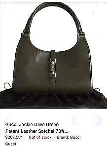 Authentic GUCCI Vintage  Patent Leather Bag