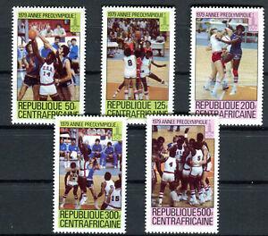 Briefmarken Zentralafrikanische Republik 1979 ** Nr: 653 - 657 Olympiade BR475