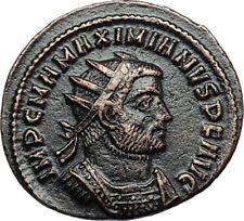 MAXIMIAN w Jupiter Victory Authentic Ancient 286AD Original Roman Coin i68068