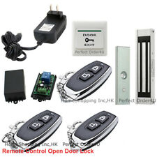 New Door Access Control System+Electric Magnetic Lock+3Wireless Remote Controls