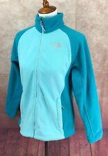 North Face Full Zip Fleece Mock Neck Drawstring Pockets Blue Jacket Women's M