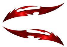 "Harley Davidson Soft Tail Road King Kawasaki Suzuki Red Blade Stickers set 5"""
