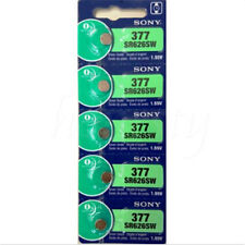 1set of 5pcs 1.55V Silver Oxide Button-type Watch Batteries For Sony 377 SR626SW
