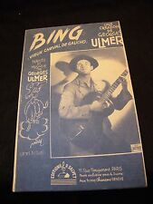 Partition Bing Georges Ulmer Music Sheet