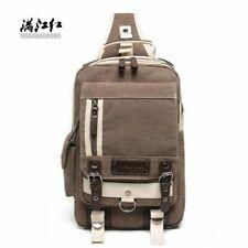 Mens Backpack Canvas Shoulder Large Capacity Travel Crossbody Messenger Bag