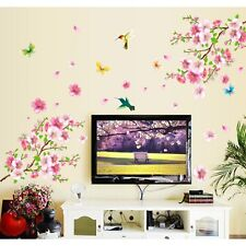 Beautiful Birds Flower Wall Paper DIY Home Room Decor Butterfly Mural Stickers