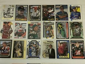 NASCAR autographed 75 trading card lot NO RESERVE 88 MAXX ALLISON EARNHARDT MORE