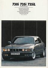BMW 7er E32 7/1 Lack-/Polsterfarben 730i/735i/735iL Prospekt/brochure/prospectus