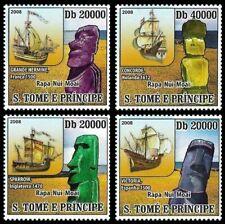 Sao Tome Easter Island Ships  4v Set MNH Michel:3740-3743