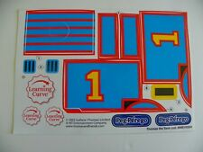 PEG PEREGO DECAL SET / STICKER SHEET FOR THOMAS  THE TRAIN RIDE ON